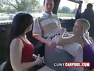 Blonde Babe Sucking In Van