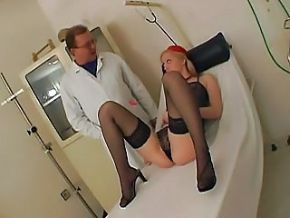 Blonde Doctor Lingerie Stockings