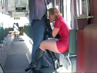 Amateur Blowjob Bus Clothed MILF Public