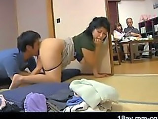 Asian Clothed Family Japanese Licking MILF Mom Old and Young
