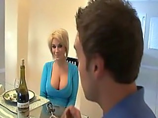 Amazing Big Tits Blonde MILF Wife