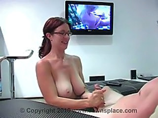 Big Tits Glasses Handjob MILF Natural