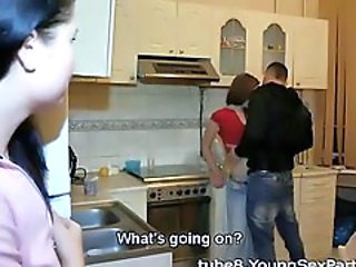 Girlfriend Kitchen Teen Voyeur