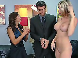 Big Tits MILF Office Threesome