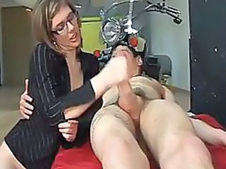 Glasses Handjob MILF