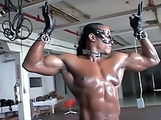 Ebony Fetish MILF Muscled Oiled Sport