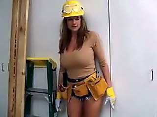 Amazing Big Tits MILF Natural Uniform