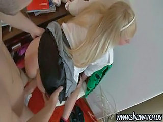 Blonde Pov Skirt Teen