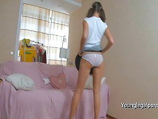 Blonde Panty Pigtail Teen