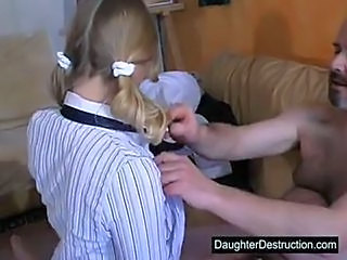 Blonde Daddy Old and Young Pigtail