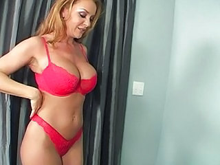 Big Tits Blonde Lingerie Mom
