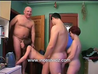 Family Kitchen Mom Orgy