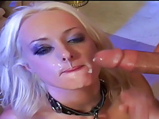 Blonde Cumshot Facial Teen
