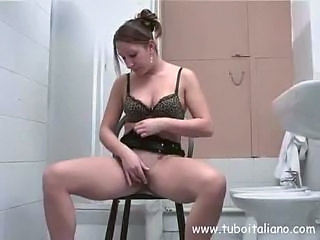 Bathroom Italian Masturbating Teen