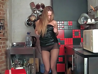Kitchen Latex Pantyhose