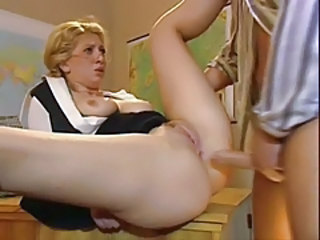 Anal Blonde MILF Teacher