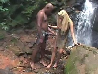 Big cock Blonde Interracial Outdoor Teen