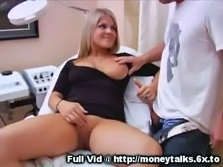 Babe Blonde Cash Handjob