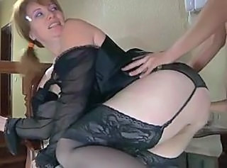 Lingerie MILF Mom Russian Stockings
