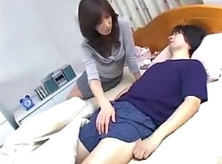 Asian MILF Mom Old and Young Sleeping
