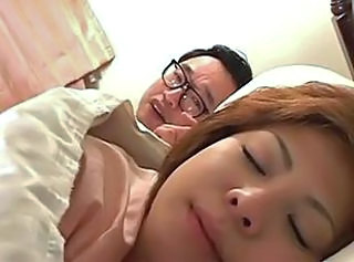 Asian Japanese MILF Sleeping Wife