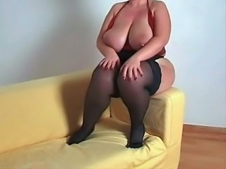 BBW Big Tits Bus MILF Natural Stockings