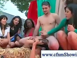 CFNM Handjob Outdoor