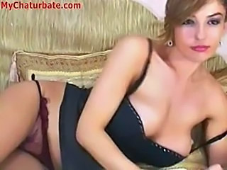 Amazing Lingerie Masturbating MILF Solo Webcam