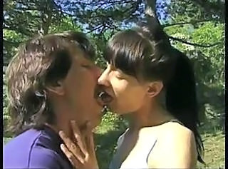 Kissing Mature Outdoor Skinny
