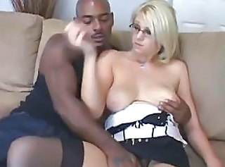 Blonde Cuckold Glasses Interracial MILF SaggyTits Wife
