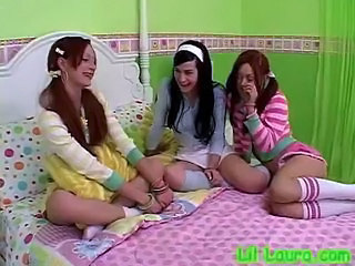Pigtail Teen Threesome