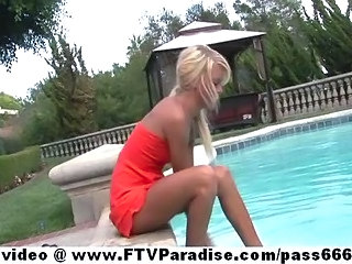 Blonde Pool Teen