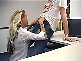 Blonde Office Teen
