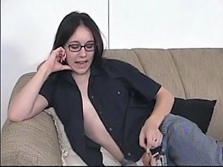 Brunette Casting Glasses Teen