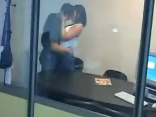 Kissing Office Voyeur