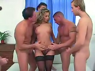 European Gangbang Panty Stockings