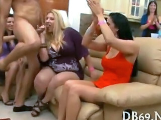Blowjob CFNM Party
