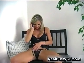 Blonde Bus Lingerie MILF