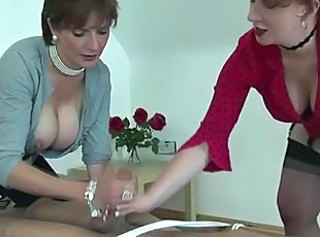 Bus CFNM Handjob Mature Stockings Threesome