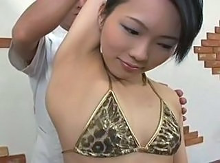 Asian Bikini Cute Massage Skinny Small Tits