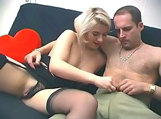 Amateur Blonde French Girlfriend Stockings