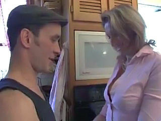 Kitchen MILF Old and Young Wife