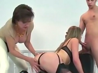 Ass Big cock Blowjob Mature MILF Threesome