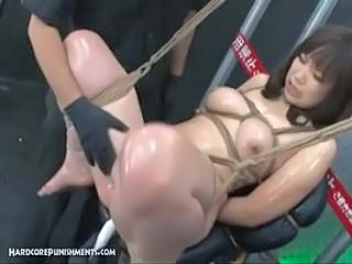 Asian Bondage Fetish Oiled