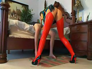 Amazing Ass Big cock Blowjob Latex Legs