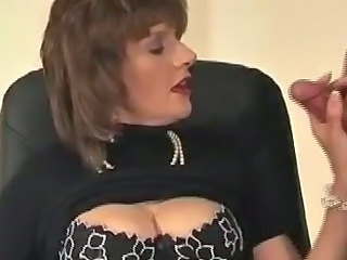 European Handjob Mature