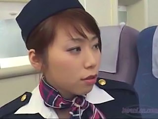 2 Asian Stewardesses Kissing Spitting Sucking Tongues Patting On The Airplane by sotegune
