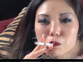Asian MILF Smoking