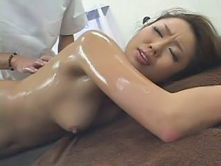 Asian Babe Cute Massage Oiled
