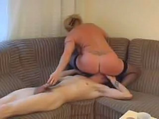 Mature And Young Couch Blonde Granny